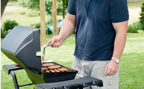 Man grilling outdoors